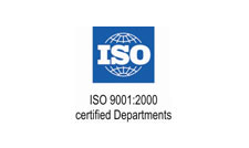 ISO 9001:2000 Certified Departments